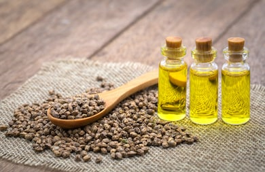Use of hemp seed to make hemp seed oil - hemp seed oil in bottles