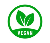 Vegan symbol - Use of hemp seeds for vegan foods