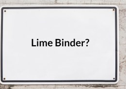 What is a lime binder?